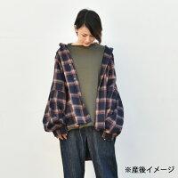 【日本製】【授乳服マタニティトップス】授乳ケープ一体型♪ゆったりワイドの授乳口付きスウェットプルオーバー