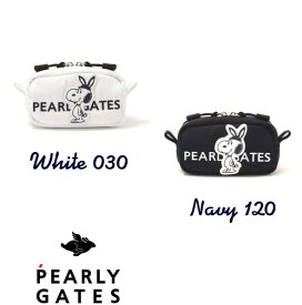 【NEW】【SNOOPY×PEARLYGATES】スヌーピー by パーリーゲイツSNOOPYワッペン ボール&小物ポーチユーティリティーポーチ 053-0284062/20D【SNOOPY】