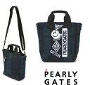 【NEW】PEARLY GATES パーリーゲイツブラックウォッチシリーズ デコワッペンミニトートバッグ ショルダー付き053-028…