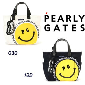 【NEW】PEARLYGATES SMILE SERIESパーリーゲイツ BIG! BIG! HAPPY SMILE! トート型 帆布カートバッグ チャーム付053-1181305/21A【SMILE AGAIN】
