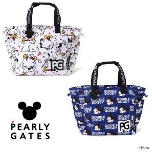 【NEW】PEARLY GATES パーリーゲイツミッキーマウス総柄BIGトートバッグシューズIN!MICKEYシルエットチャーム付053-1281001/21D<MICKEY SERIES>