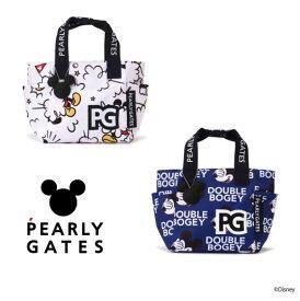 【NEW】PEARLY GATES パーリーゲイツミッキーマウス総柄 トート型カートバッグMICKEYシルエットチャーム付053-1281002/21D<MICKEY SERIES>
