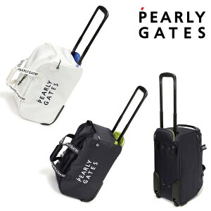 【NEW】PEARLY GATES パーリーゲイツNEW BASIC ITEMS DEBUT! 2段ロゴ キャスター付 ボストンバッグキャリーケース 053-1981900/21B