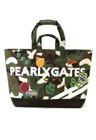 【NEW】PEARLY GATES パーリーゲイツパーリーゲイツ・ワッペンカモフラBIGトートバッグ 053-9281100/19D【WAPPEN-CAMO】