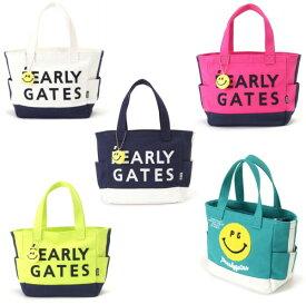 【NEW】PEARLY GATES パーリーゲイツモコモコBIGスマイリー トート型キャンバスカートバッグ チャーム付053-0181236/20AF