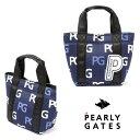 【NEW】PEARLY GATES パーリーゲイツPGロゴ柄 トート型 カートバッグ053-0281908/20D