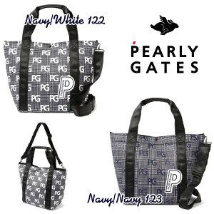 【NEW】PEARLY GATES パーリーゲイツGLENCHECK SERIES!グレンチェックPGロゴ BIGトートバッグ シューズIN!ショルダー付き 053-0281909/20C【GLENCHECK】