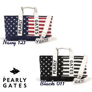 【NEW】PEARLY GATES パーリーゲイツStars and stripes! 星条旗モチーフBIGトートバッグ ショルダー付きボストンバッグ 053-0281001/20D【USAGARA】