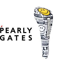 【NEW】PEARLYGATES SMILE SERIESパーリーゲイツ・スマイル総柄フェアウェイウッド用ヘッドカバー 053-1184307【21-B】【SMILE AGAIN】