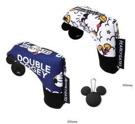 【NEW】PEARLY GATES パーリーゲイツミッキーマウス総柄 パターカバーピンタイプ MICKEYシルエットチャーム付053-1284004/21D<MICKEY SERIES>
