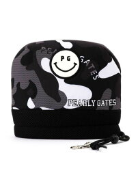 【NEW】【SMILY-BLACK CAMO】パーリーゲイツ ブラックカモフラ スマイリーアイアンカバー 053-9284006/19D【SMILY】【BLACKCAMO】