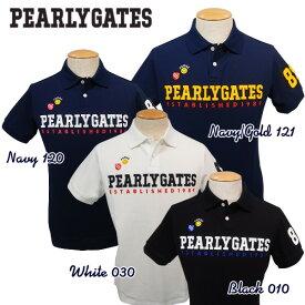 【NEW】PEARLY GATES TRAD SMILYパーリーゲイツ・TRAD SMILY吸汗速乾UVケア・メンズ半袖ポロシャツ=JAPAN MADE= 641-0960006/20A【PG-EDITION】