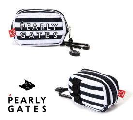 【NEW】PEARLY GATES パーリーゲイツCOOL BORDER SERIES! 2段ロゴボーダー柄 定番系ボールポーチ053-1984016/21A【定番BORDER】