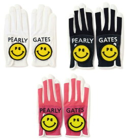 【NEW】PEARLY GATES パーリーゲイツPG SMILE & BIG SMILE メッシュグローブ両手用 053-0185402/20B【smile-smile】