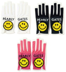 【NEW】PEARLY GATES パーリーゲイツPG SMILE & BIG SMILE レディースネイルスルー メッシュグローブ 両手用053-0185403/20B【smile-smile】