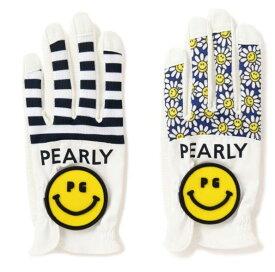 【NEW】PEARLY GATES パーリーゲイツPG SMILE & BIG SMILE ボーダーorフラワーBIG SMILE!メッシュグローブ 左手用053-0185404/20B【smile-smile】