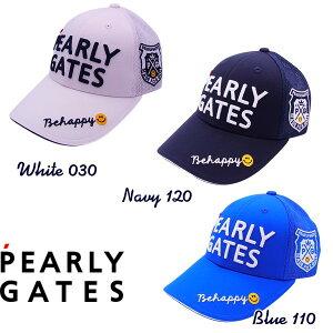 【NEW・WEB限定】PEARLY GATESPOP & TRAD パーリーゲイツ Be happy!2段ロゴ メッシュキャップ 641-1987100/21B 【PG-EDITION】