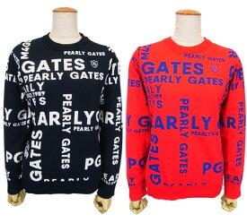 【PREMIUM CHOIDE】PEARLY GATES パーリーゲイツGRAPHICロゴ レディース ジャガードニットクルーネックセーター プルオーバー=JAPAN MADE= 055-0170030/19D【GRAPHIC】