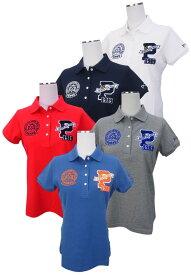 【PREMIUM SALE】PEARLY GATES パーリーゲイツレディース BIG Pワッペンコットンカノコ半袖ポロシャツ =JAPAN MADE= 8260802/18C