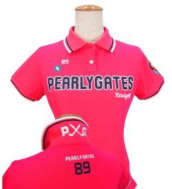 【NEW DESIGN】PERLY GATES P×G EDITIONパーリーゲイツ吸汗速乾UVケアレディース半袖ポロシャツ =JAPAN MADE=9160262/19A【PXG】