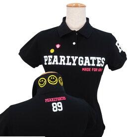 【2019・NEW DESIGN】PEARLY GATES CLUB SMILY スペシャルエディションパーリーゲイツ吸汗速乾UVケアレディース半袖ポロシャツ =JAPAN MADE=9160264/19A【PXG】