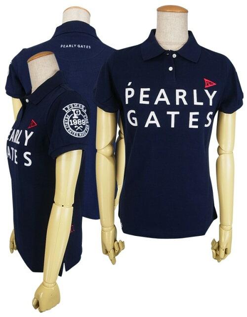 【NEW】PEARLYGATESパーリーゲイツ【30周年記念限定モデル】30thAnniv.I'mPEARLYGATESレディース半袖ポロシャツ=JAPANMADE=9160306/19A【30TH】