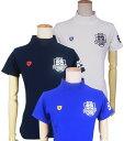 【NEW】PEARLY GATES パーリーゲイツ接触冷感・UVカット レディースハイネック半袖モックシャツ =JAPAN MADE=9267702/…