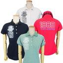 【NEW】PEARLY GATES パーリーゲイツPG1989バックプリント レディース半袖ポロシャツ=JAPAN MADE= 9260702/19C