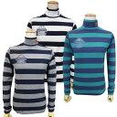 【PREMIUM SALE】PEARLY GATES パーリーゲイツベア天竺バイカラーボーダー レディースハイネックモックシャツ =JAPAN …