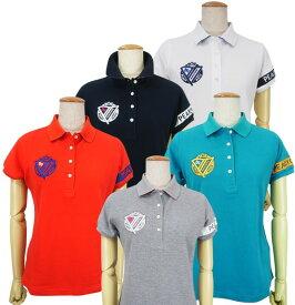【NEW】PEARLY GATES パーリーゲイツPGロゴライン レディースカノコ半袖ポロシャツ=JAPAN MADE= 055-0160106/20A