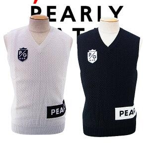 【NEW】PEARLY GATES パーリーゲイツメンズ ボックスロゴ Vネックニットベスト=JAPAN MADE= 053-1173201/21AF