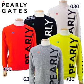 【NEW】PEARLY GATES パーリーゲイツピュアカシミヤ メンズ BIG!BIG!ロゴクルーネックセーター プルオーバー053-0270001/20D