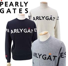 【NEW】PEARLY GATES パーリーゲイツピュアカシミヤ メンズクルーネックセーター053-1270001/21D