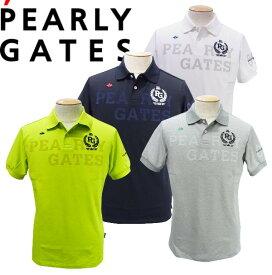 【NEW】PEARLY GATES パーリーゲイツLAURELクラウン ドライマスターメンズ カノコ半袖ポロシャツ=JAPAN MADE= 053-1160301/21A