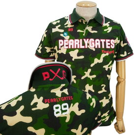【2019・NEW DESIGN】PEARLY GATES P×G CAMO EDITIONパーリーゲイツ吸汗速乾UVケアカモフラ メンズポロシャツ =JAPAN MADE=9160269/19A【PXG】