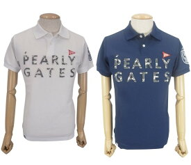 【NEW】PEARLY GATES パーリーゲイツ【30周年記念限定モデル】30th Anniv.I'm PEARLY GATES プライムフレックスメンズ カモフラロゴ半袖ポロシャツ=JAPAN MADE= 9260753/19C【30TH】