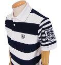 【NEW】PEARLY GATES パーリーゲイツハニカムカノコ バイカラーボーダーメンズ半袖ポロシャツ =JAPAN MADE=9260715/19C