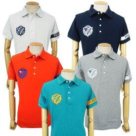 【NEW】PEARLY GATES パーリーゲイツPGロゴライン メンズカノコ半袖ポロシャツ=JAPAN MADE= 053-0160105/20A