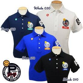 【NEW】PEARLY GATES CLUB SMILY EDITIONパーリーゲイツ・クラブスマイリーエディション吸汗速乾UVケア・メンズ半袖ポロシャツ=JAPAN MADE= 641-0960003/20A【PG-EDITION】