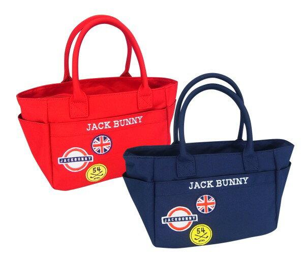 【NEW】Jack Bunny!! by PEARLY GATESジャックバニー ワッペンシリーズ!ユニオンジャックトート型カートバッグ 262-7281915/17C-UnionJack