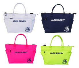 【NEW】Jack Bunny!! by PEARLY GATESジャックバニー JBロゴ&エンブレム刺繍定番系BIGトートバッグ ショルダー付 262-9981100/19A