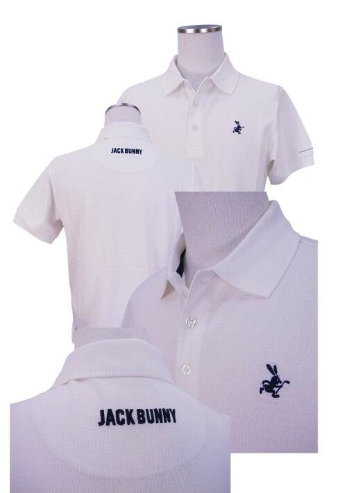 【NEW】JackBunny!!byPEARLYGATESジャックバニーメンズラウンドラビットPIQUEカノコ定番系半袖ポロシャツ262-8960101/18A