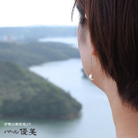 【真珠】【アコヤ真珠】【珊瑚】【真珠 ピアス】K18 ピアス パール【パール ピアス】