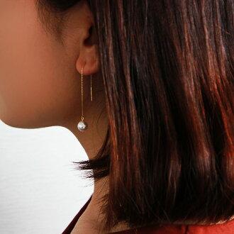 akoya pearl K18YG/K14WG earing pierce 7.5-9mm