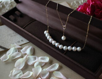 Akoya海水珍珠项链 7-9mm 可移动款式 K18黄金or K14白金 送礼物