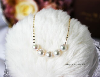 Akoya pearl necklace K18YG/K14WG 4-4.5mm/6.5-7mm Pearl necklace 45cm
