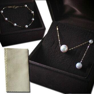 Akoya摸彩袋珍珠貝珍珠花珠子級8-8.5mm akoya珍珠優美通過項鏈K18/K14WG 4-4.5mm嬰兒珍珠手鐲安排