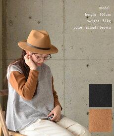 BENELLI ベネリベルト付きメルトンウール中折れハット(全2色)【送料無料】【あす楽】2216