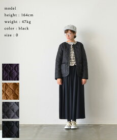 【SALE 20%OFF!】 ARMEN アーメンHEAT QUILT NO COLLAR JACKET(全4色)【送料無料】【あす楽対応】【2019aw-p】NAM1851