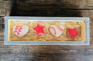 アイシングクッキー☆ハート&星のギフトセット【4個入り】はーと ほし お土産 プレゼント ケーキの飾りに 【北海道スイーツ】